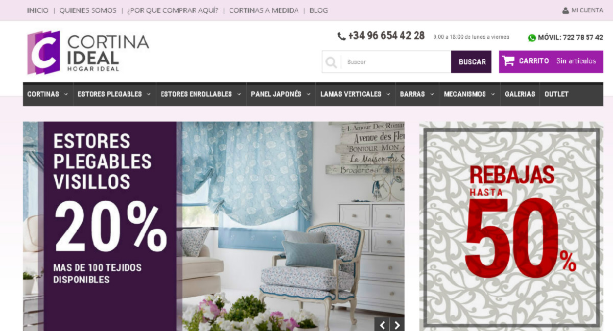 Cortina ideal estrena web responsive con diseño exclusivo